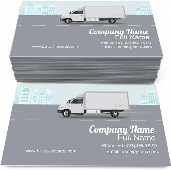 Sample of Commercial Delivery calling card design for advertisements marketing ideas and promote Cargo City branding identity