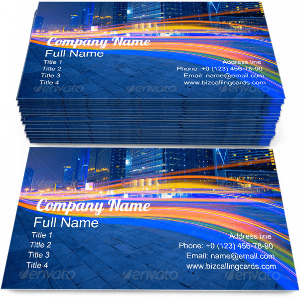 Sample of City Road calling card design for advertisements marketing ideas and promote urban branding identity