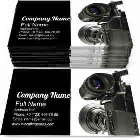 Digital Video Camera Business Card Template
