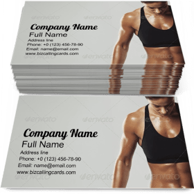 Female Resting Workout Business Card Template