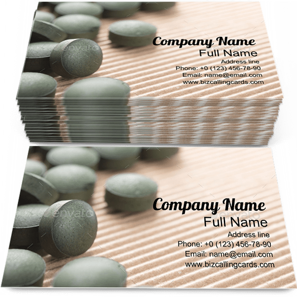 Sample of Spirulina Tablets calling card design for advertisements marketing ideas and promote Organic branding identity