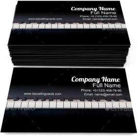 Piano Keyboard Front Business Card Template