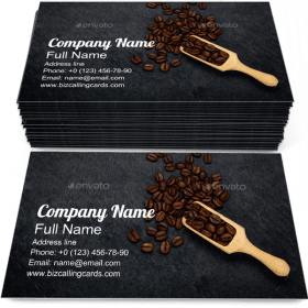 Roasted Coffee Beans Business Card Template