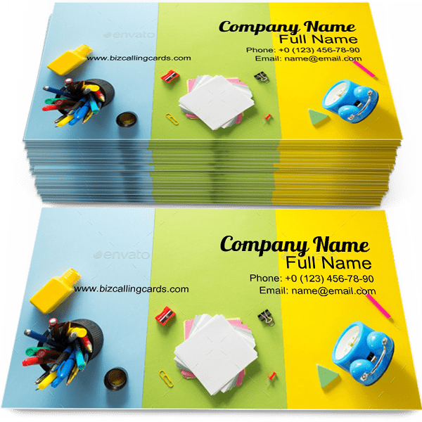 Sample of School calling card design for advertisements marketing ideas and promote education branding identity