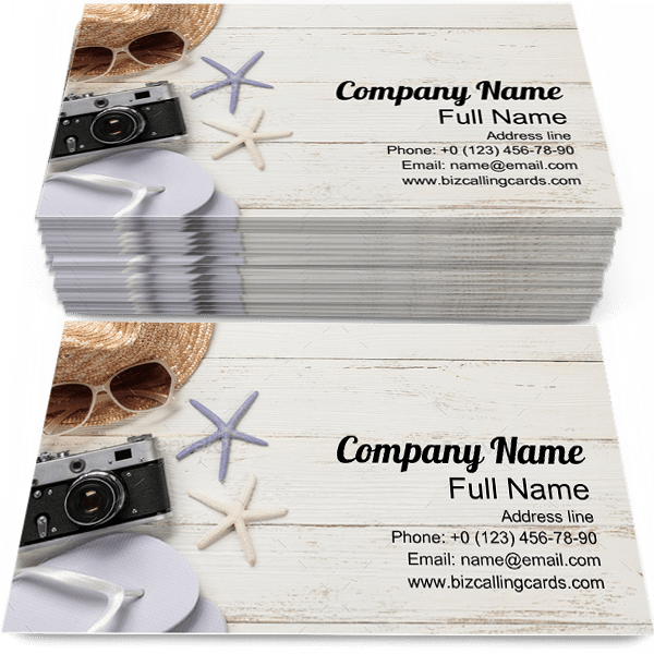 Sample of Vacation calling card design for advertisements marketing ideas and promote Travel branding identity