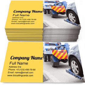 Tow Truck Towing Car Business Card Template