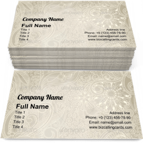 Seamless Vintage Pattern Business Card Template