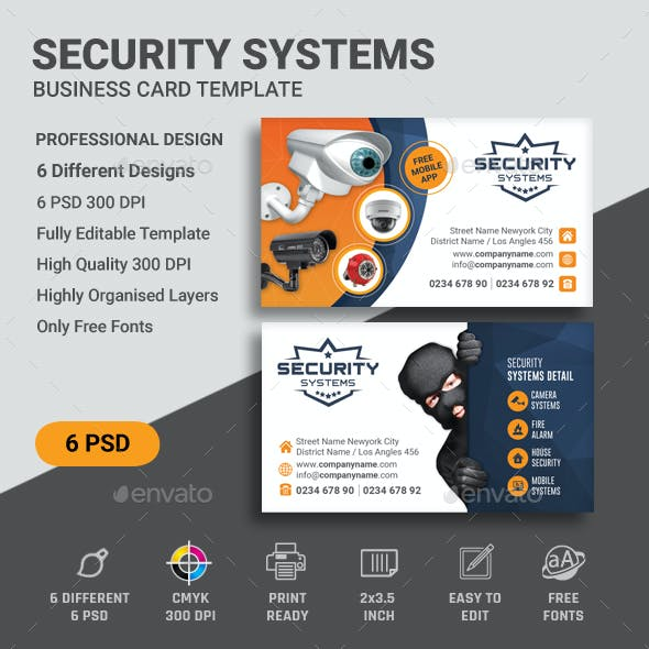Security CCTV Business Card Templates Free Download