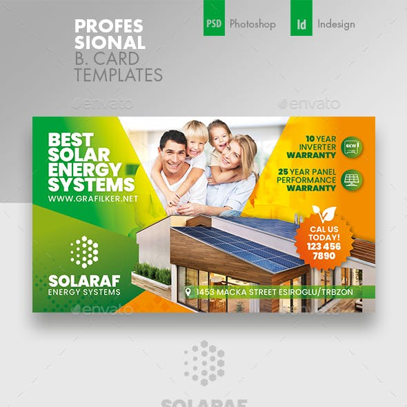Solar Energy Business Card Templates Free Download