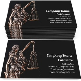 Themis statue holding a scale Business Card Template