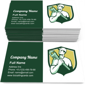 Tradesman Plumber Wrench Business Card Template
