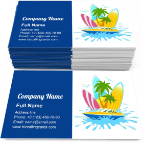 Travel Tropical Active Rest Business Card Template