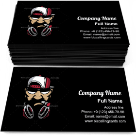 Urban HipHop character Business Card Template