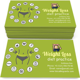 Weight loss illustration Business Card Template