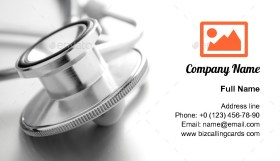 Stethoscope emergency Business Card Template