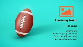 American Football Ball Business Card Template
