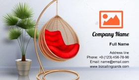 Domestic Swing Chair Business Card Template