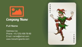 Joker colored jester Business Card Template