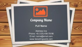 Vintage Photo Frames Business Card Template