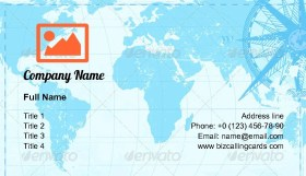 Vintage word map Business Card Template