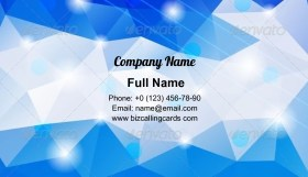 Abstract Geometric Polygons Business Card Template