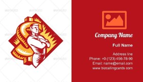 Businessman Arms Folded Business Card Template