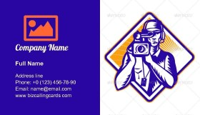 Film Crew Cameraman Business Card Template
