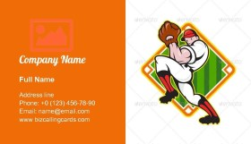 Baseball Pitcher Player Business Card Template