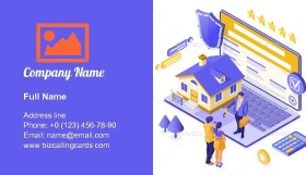 Sale Rent Mortgage Business Card Template
