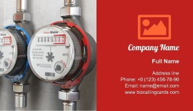 Row of water meters Business Card Template