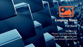 Cubes array as abstract Business Card Template
