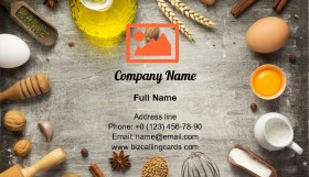 Bakery and bread ingredients Business Card Template
