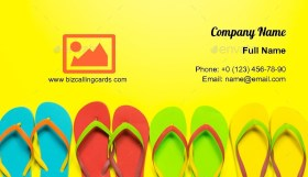 Multicolor flip flops Business Card Template