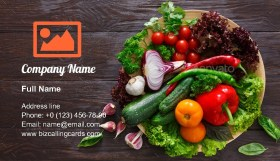 Dish of fresh vegetables Business Card Template