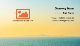 Beautiful sunset or sunrise Business Card Template