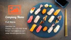 Nigiri sushi set Business Card Template