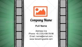 Film strip document Business Card Template