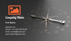 Compass Guidance Orientation Business Card Template
