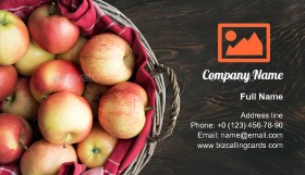 Fresh ripe apples Business Card Template