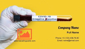 Covid-19 coronavirus analyzing Business Card Template