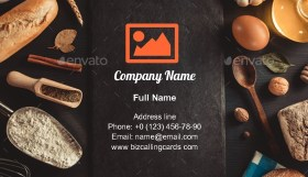 Bread and bake ingredients Business Card Template