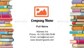 Book Frame Looping Business Card Template