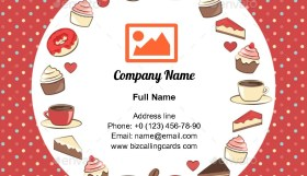 Sweets Circle Frame Business Card Template
