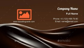 Dark liquid chocolate Business Card Template