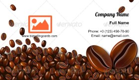 Mocha coffee beans Business Card Template