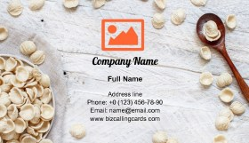 Italian pasta orecchiette Business Card Template