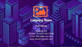 Smart City Solutions Business Card Template