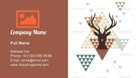 Abstract Geometric Deer Business Card Template