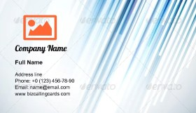 Straight Lines illustration Business Card Template