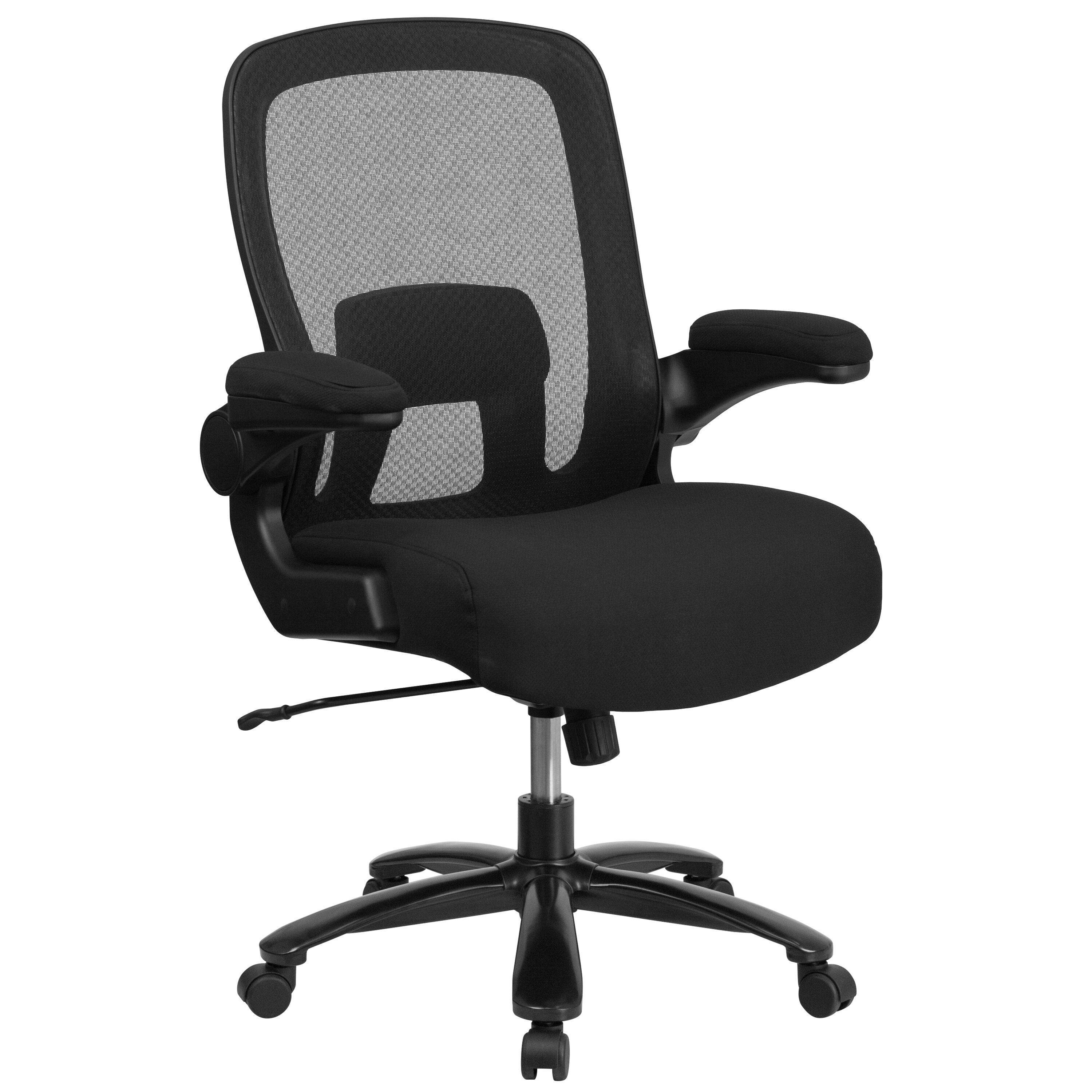 Big Tall Office Chair Black Mesh Executive Swivel Office Chair With Lumbar And Back Support And Wheels